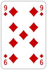 Poker playing card 9 diamond