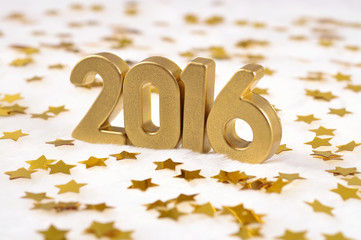 2016 year golden figures and of golden stars