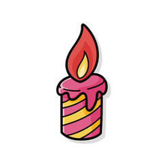 candle doodle
