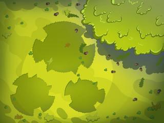 Green Tracks on Meadow's Grass. Digital background raster illustration for kids book.