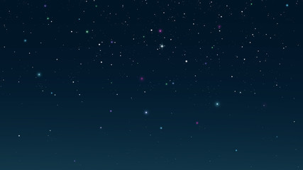 Starry night sky. Digital background raster illustration.