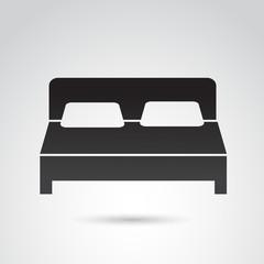 Bed vector icon.