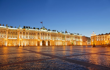 The Winter Palace on Palace Square in St. Petersburg