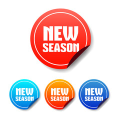 New Season Round Stickers
