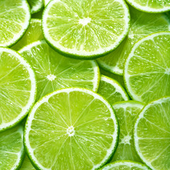 close up of lime slices background