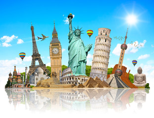 Illustration of famous monument of the world