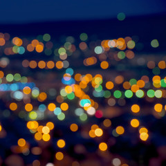 beautiful Christmas lights abstract  bokeh background, closeup