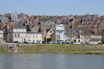 France,picturesque city of La Charite sur Loire in Bourgogne