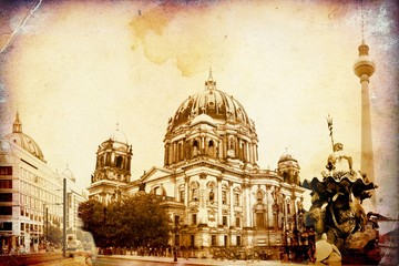 Berlin city, Germany, vintage, retro, old