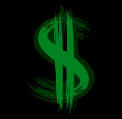 Green dollar sign