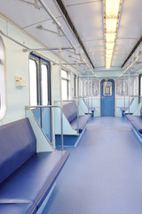 Interior of a subway car