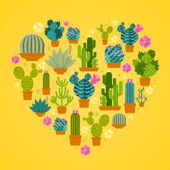 Wall Mural - I love cactuses logo