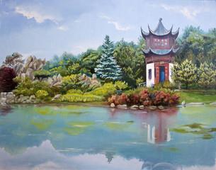 Pagoda on lake