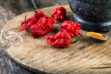 very strongly hot pepper Carolina Reaper