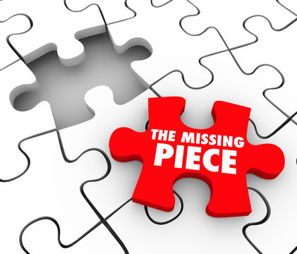 The Missing Piece Found Puzzle Complete Finishing Finding Lost F