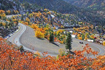 US route 550 ,Also known as Million dollar highway in Colorado