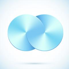 Blue circles vector infinity