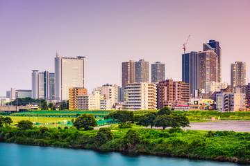Kawasaki Japan skyline