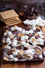 Chocolate bar with marshmallows