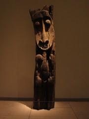 大英博物館内のアフリカ美術の展示