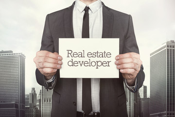 Real estate developer on paper