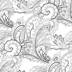 Paisley seamless pattern, for textile, wrapping, design