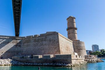Le fort Saint-Jean et le musée du MUCEM à Marseille