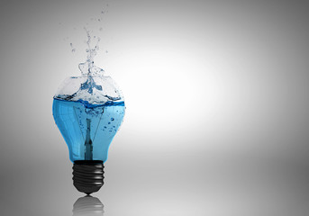 Light bulb with water