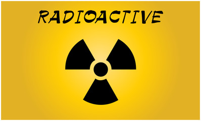 Radioactive contamination symbol - Vector Illustration