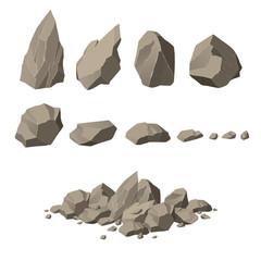 Rocks and stones set