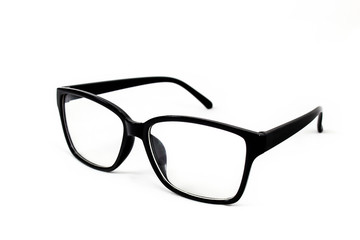 Glasses with white background