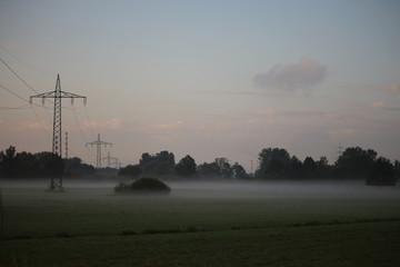 Nebel in der Morgendämmerung