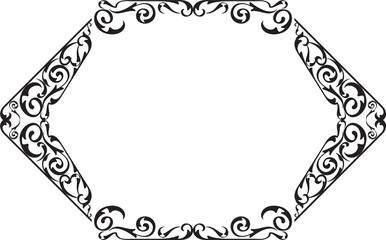 Art vintage swirll nice frame