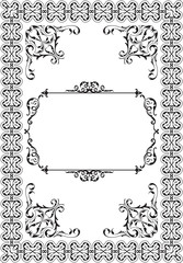 Baroque ornament ornate frame