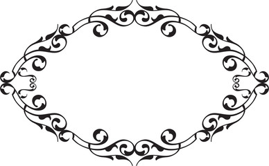 Nice swirll greeting frame