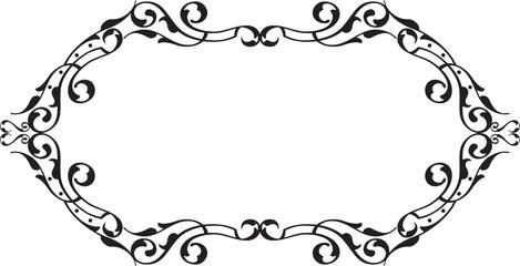 Nice vintage swirll greeting frame