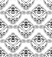 Ornate seamless victorian pattern