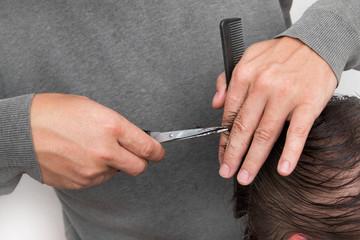 hair cutting scissors hair