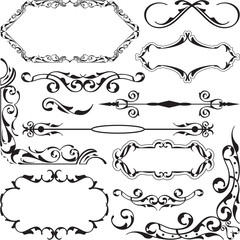 The baroque swirll set