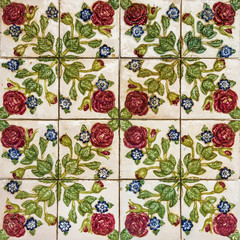 Fotomurales - Floral background. Ceramic tile,