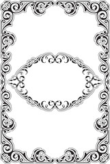 The perfect ornament baroque frame