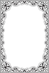 The victorian ornate frame