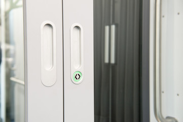 Sliding doors in modern train