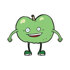 cartoon happy apple character