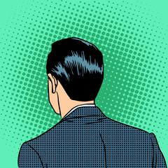 back head businessman