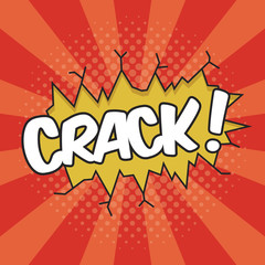 CRACK! Wording Sound Effect for Comic Speech Bubble