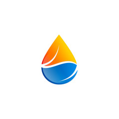 droplet water ecology gas logo