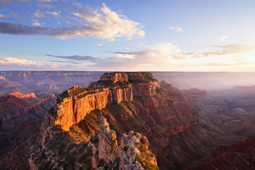 Wotans Throne, Cape Roya at Sunsetl, Grand Canyon North Rim