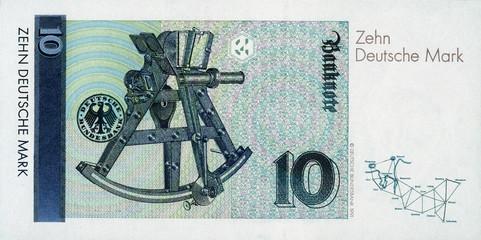 Historische Banknote, 1. Oktober 1993, 10 Mark, Zehn Deutsche Mark, Deutschland