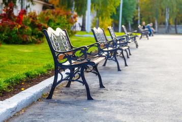 autumn bench light
